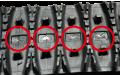 芯金タイプのゴムクローラー